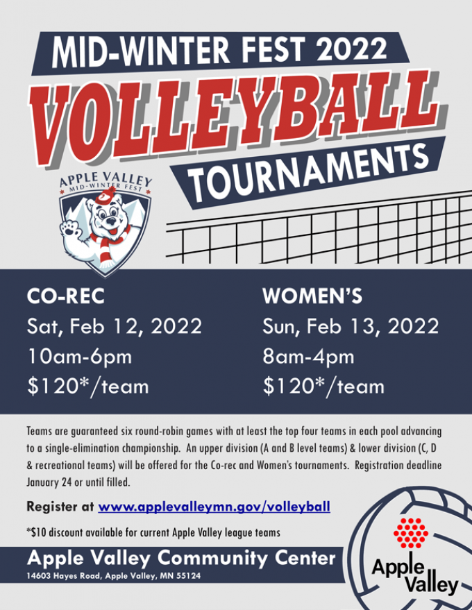 Mid-Winterfest Co-Rec Volleyball Tournaments